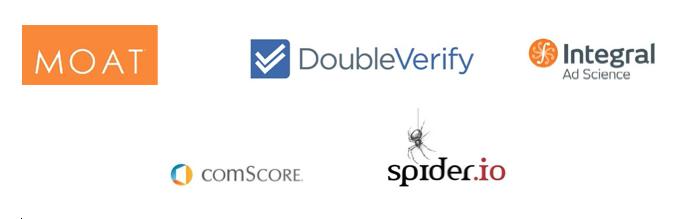 Moat-DoubleVerify-IAS-Comscore-SpiderIO-logo